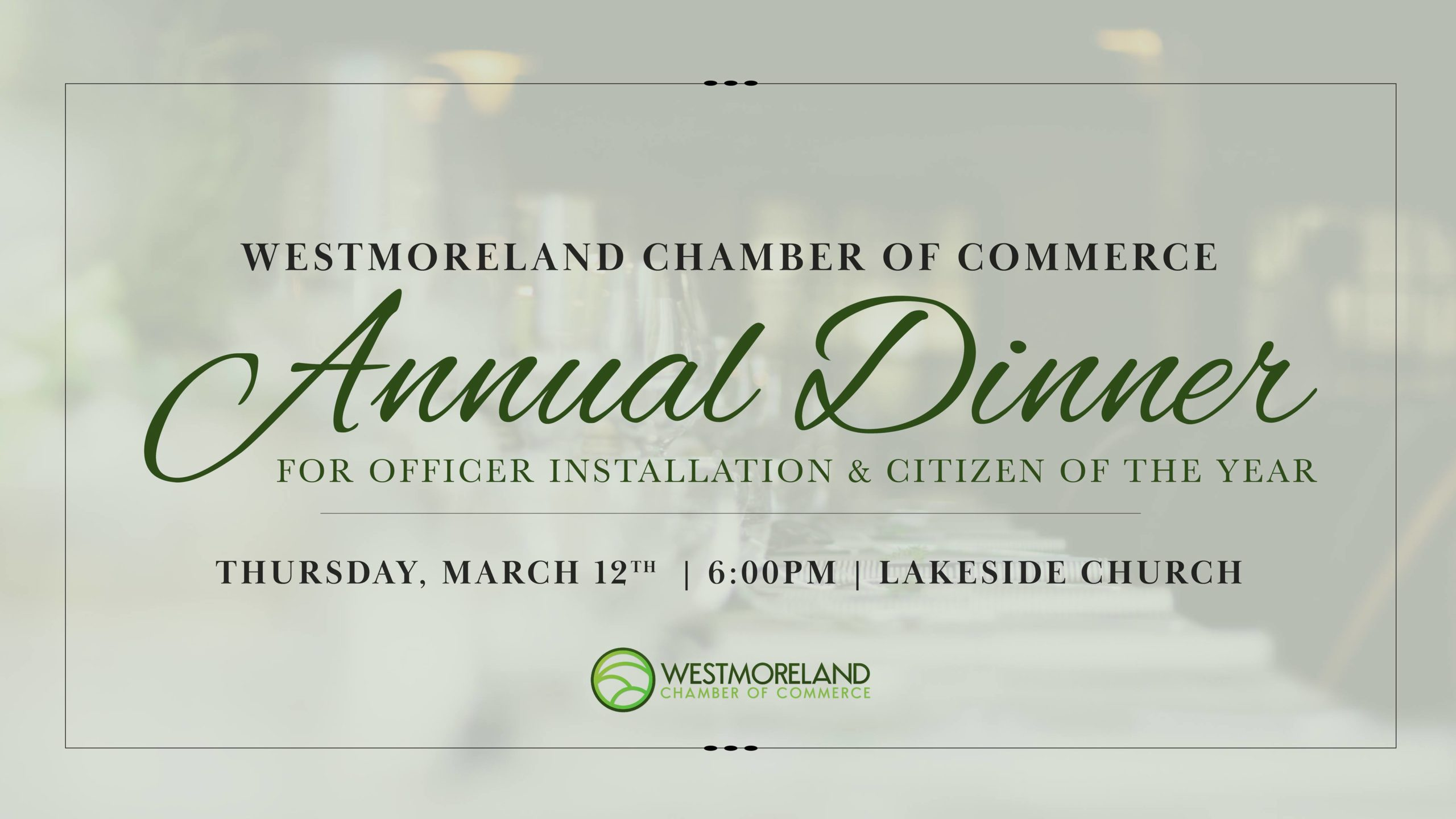 Westmoreland TN Chamber of Commerce Annual Banquet Event Flyer
